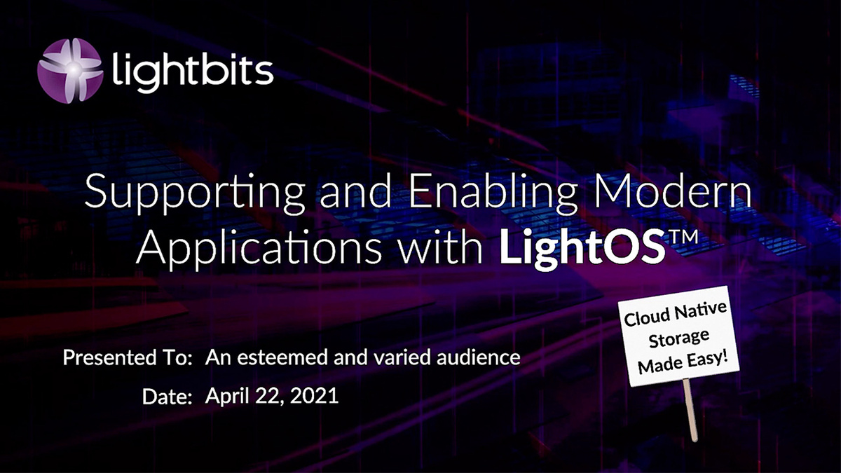 Supporting and Enabling Modern Applications