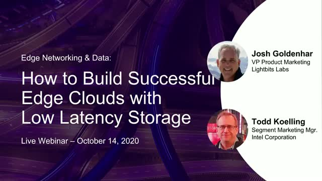 Edge Networking & Data: How to Build Edge Clouds with Low Latency Storage